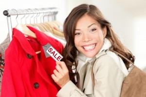 Young Woman Shopping Happy image